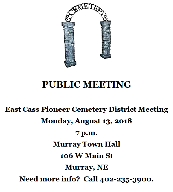 2018 07 18 East Cass Pioneer Cemetery meeting