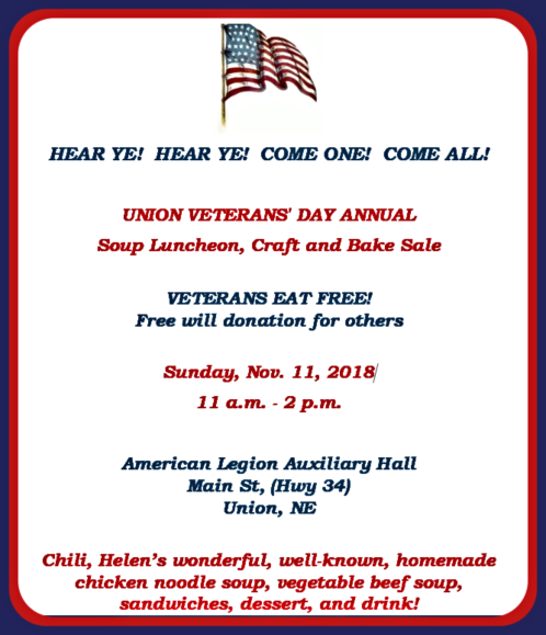 2018 10 31 UNION Vets lunch