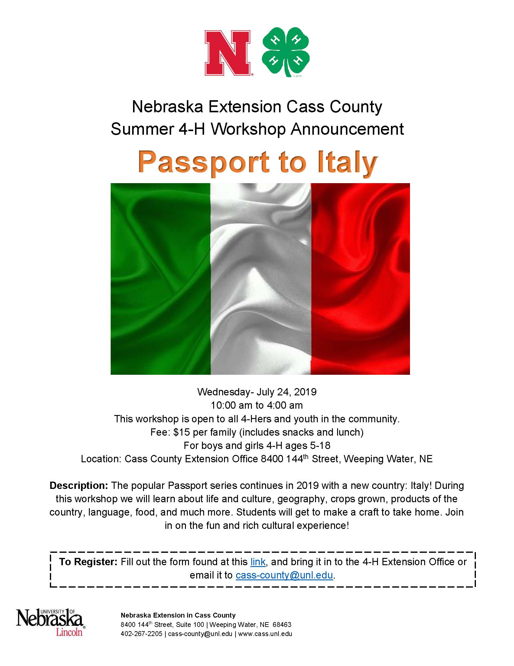 2019 Passport to Italy