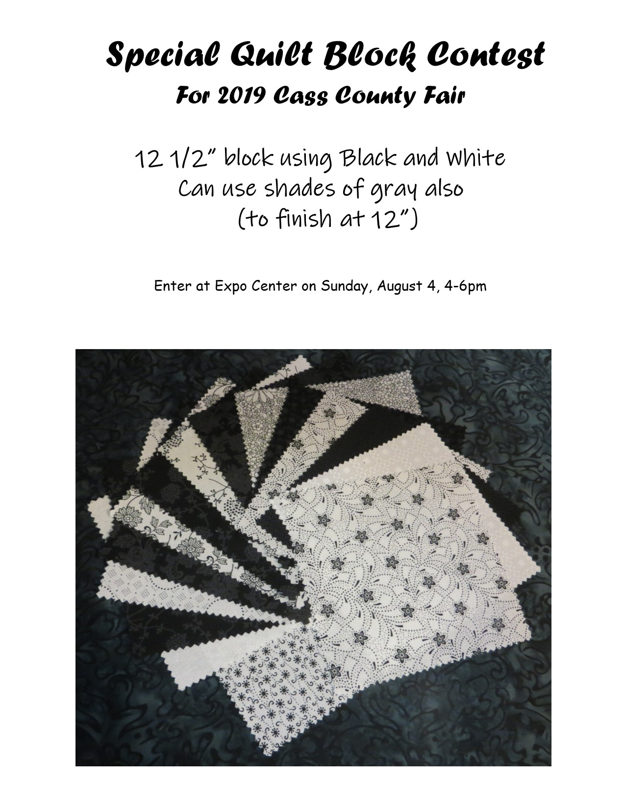 2019 Special Quilt Block rules