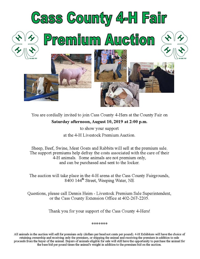 Livestock Auction Poster 2019