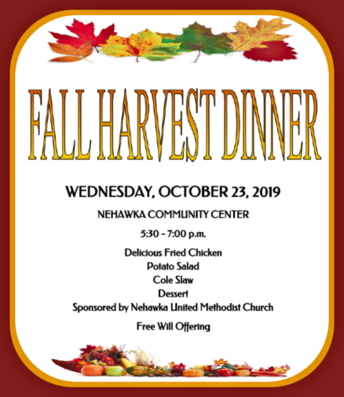 NEH UMC fall dinner