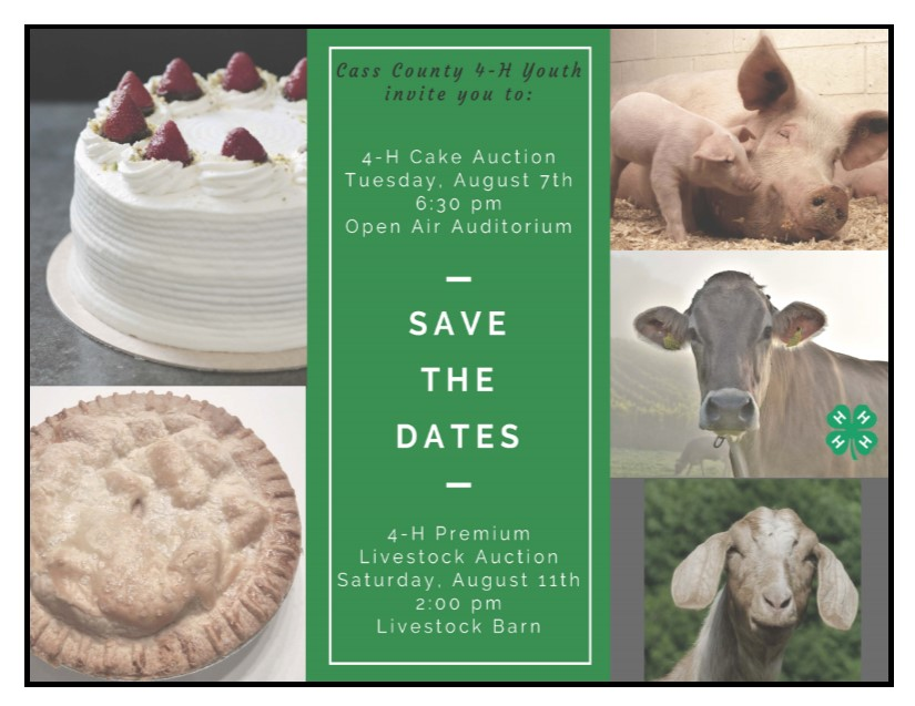 Livestock Cake Auction Postcard Invitation 2018